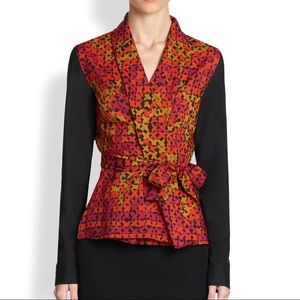 NWT Printed Wrap Blouse